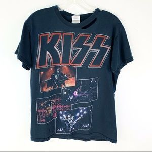 Kiss Distressed 2009 Black Graphic Tour Tee